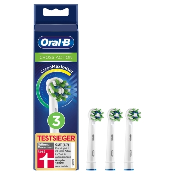 Oral-B Cross Action 3er Pack Aufsteckbürsten CleanMaximizer