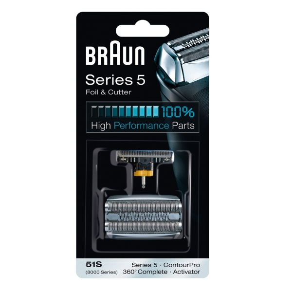 Braun Kombipack 51S 8000 Activator + 360° Complete + Serie 5